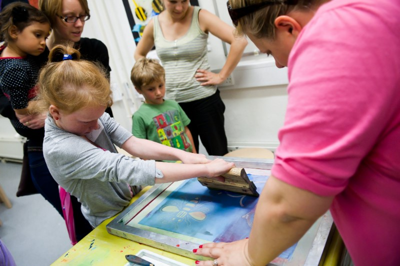 Make Your Mark with print workshops