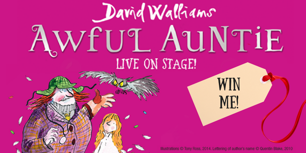 Win a signed Awful Auntie book & family ticket to any show!