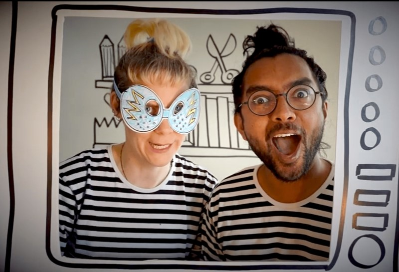 Anna and Arji's Broom Cupboard. How to Make a Superhero Mask