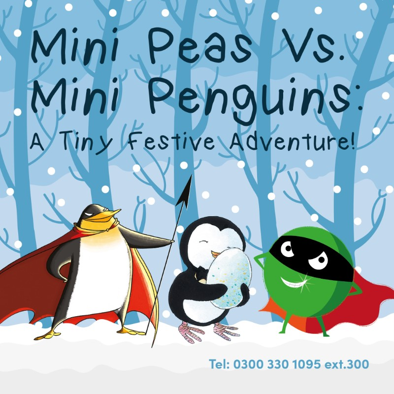 Mini Peas and Mini Penguins: A Tiny Festive Adventure!