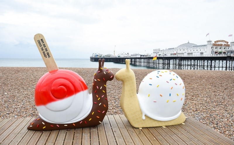 Snailspace: colour, ice cream and fun on Brighton's coastline this halfterm