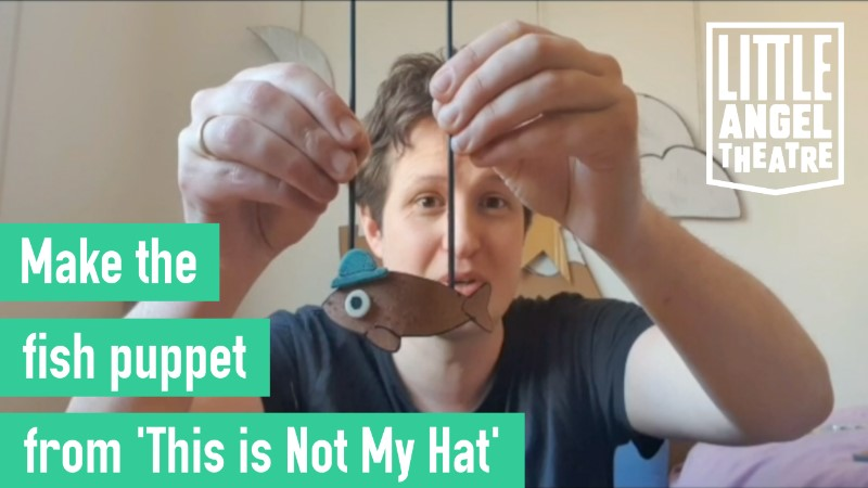 Make the fish puppet from 'This is Not My Hat'