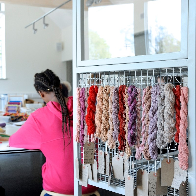 Learn to Weave & Spin with the University of Brighton Textiles Students