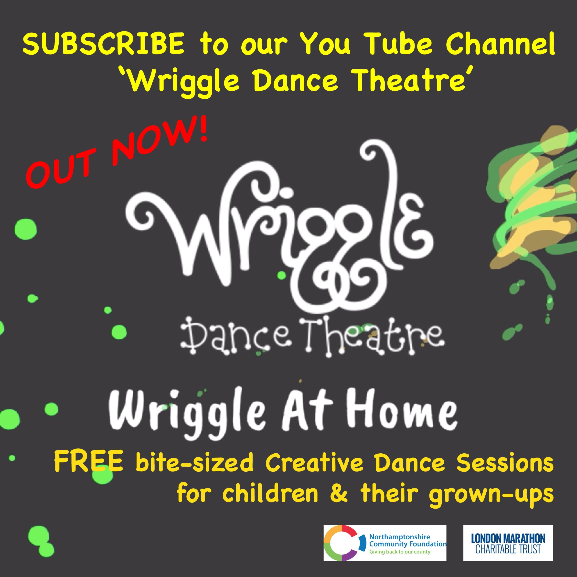 Wriggle At Home, bite sized creative dance sessions
