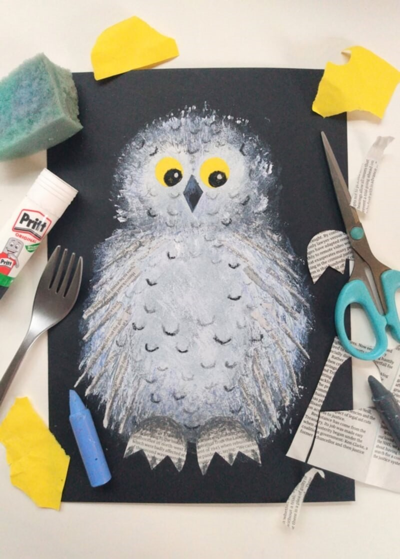Create Your Own Wintery Snowy Owl Picture