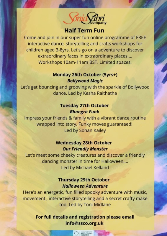 Kids Half Term Fun - Free Online Bollywood Magic Dance Workshop