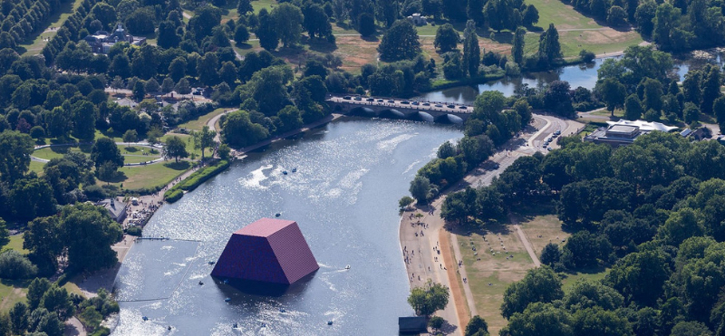 Birds eye view of Serpentine Galleries